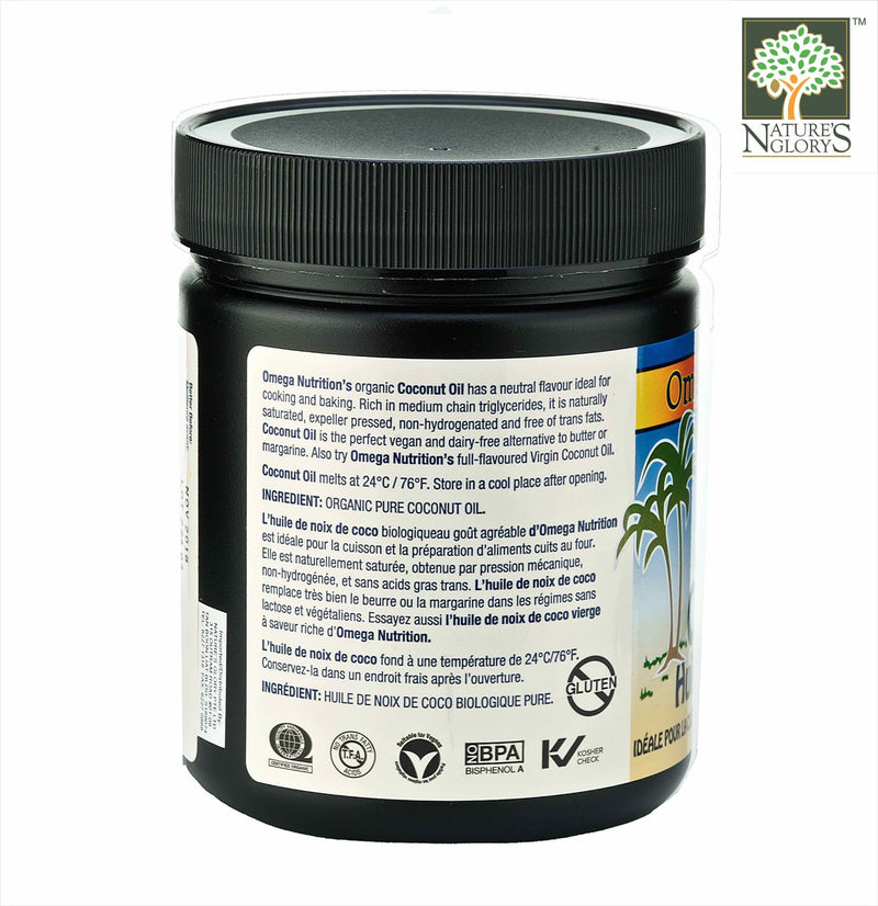 Coconut Oil Omega Nutrition 454g Organic - View 2