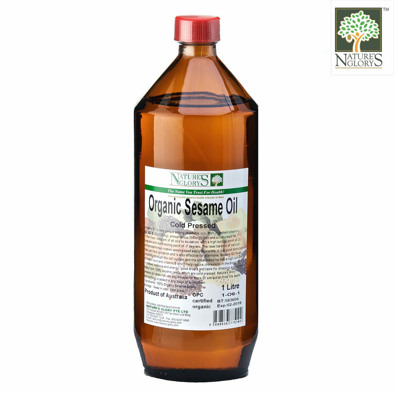 Cold Pressed Sesame Oil  Nature's Glory 1 litre Organic