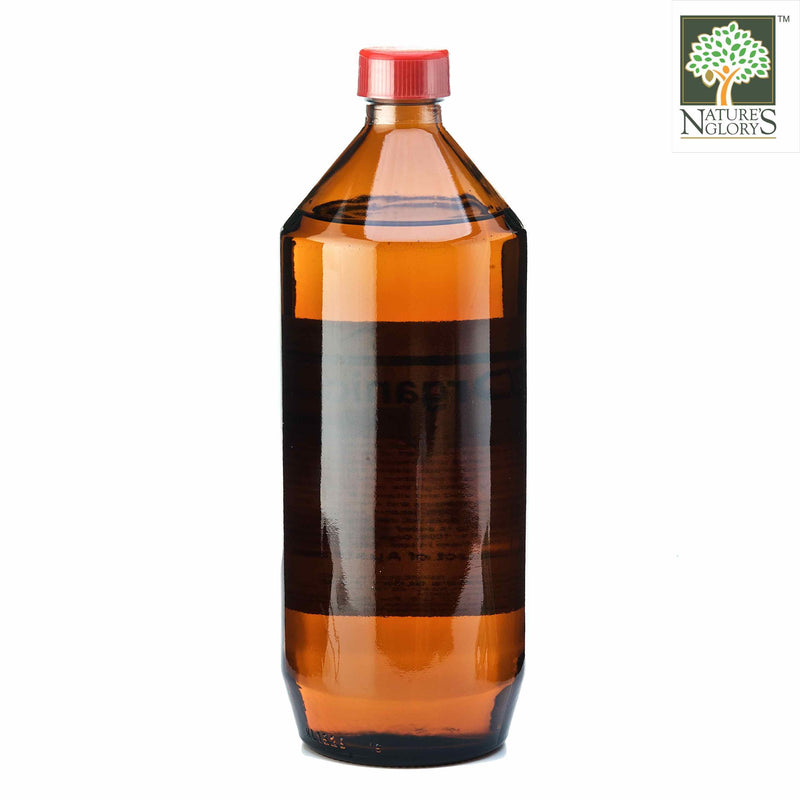 Cold Pressed Sesame Oil  Nature's Glory 1 litre Organic - Back  View