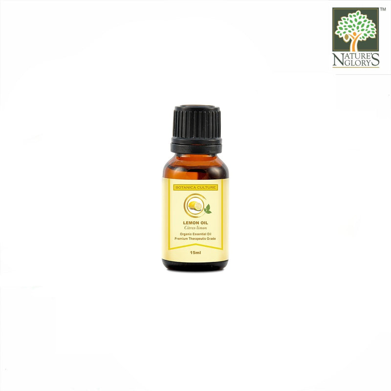 100% Organic Lemon Essential Oil (Food Grade), Botanica Culture 15ml