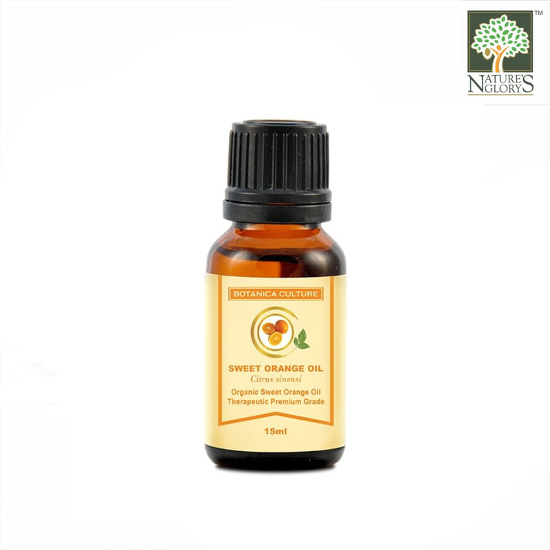 100% Organic Sweet Orange Essential Oil, Botanica Culture 15ml