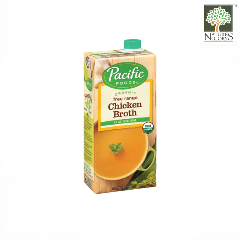 Organic Free Range Chicken Broth, Pacific Foods 946ml