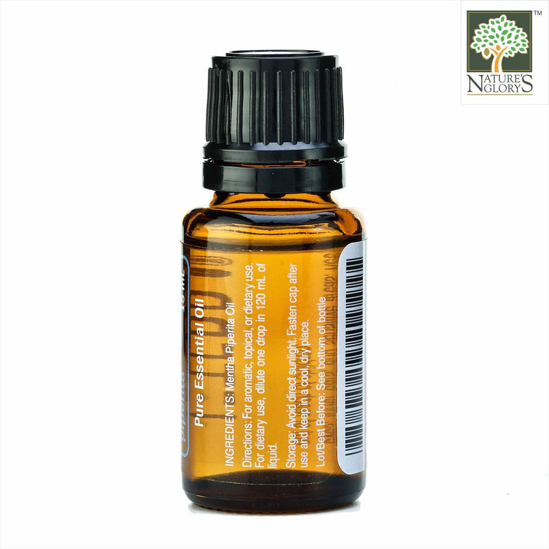 Peppermint Mentha Piperita Organic Essential Oil, doTERRA 15ml - Back View