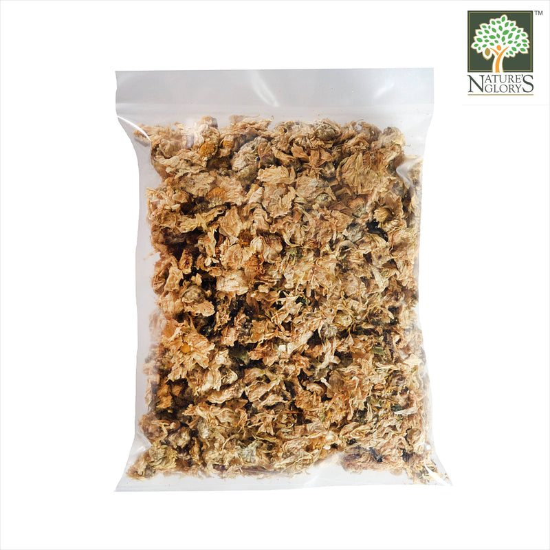 Dried Chrysanthemum (Organically Grown) Nature's Glory 100g - Back View