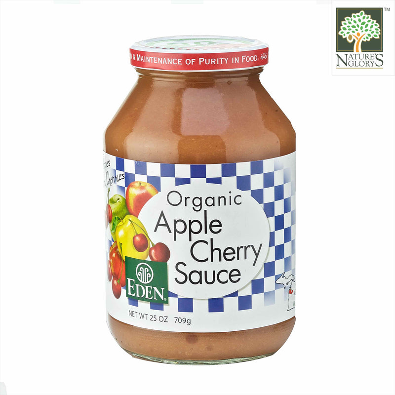 Apple and Cherry Sauce Eden Organic 709g