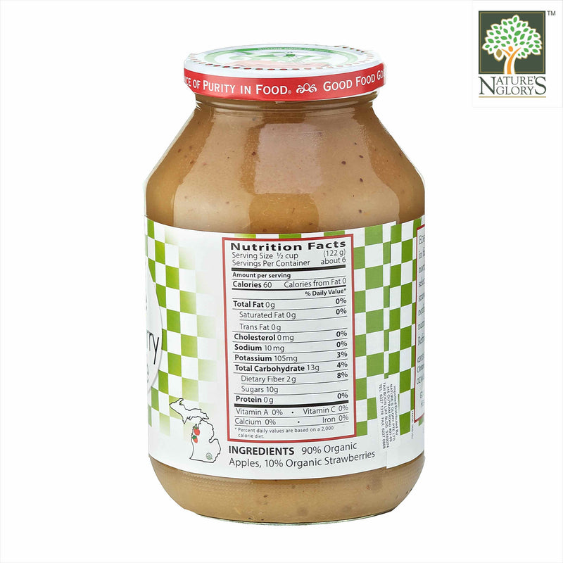 Eden Organic Apple and Strawberry Sauce 709g - View 1