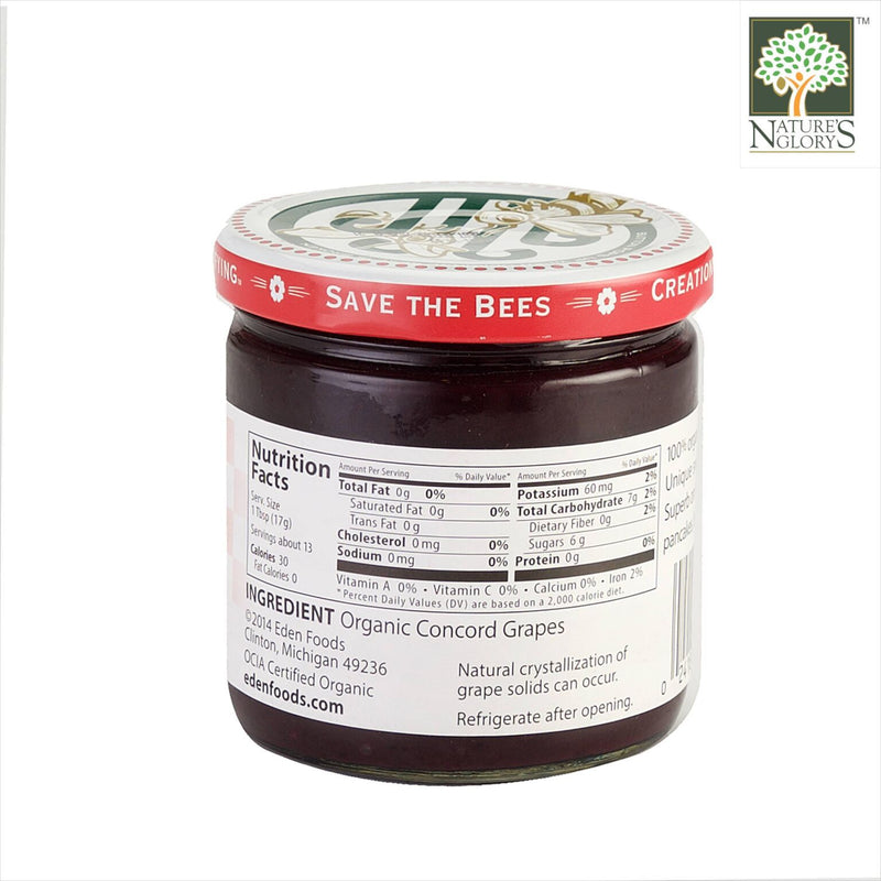 Concord Grape Butter Spread Eden Organic 227g - View 1