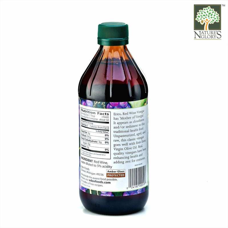 Red Wine Vinegar, Eden Organic 473ml - View 1