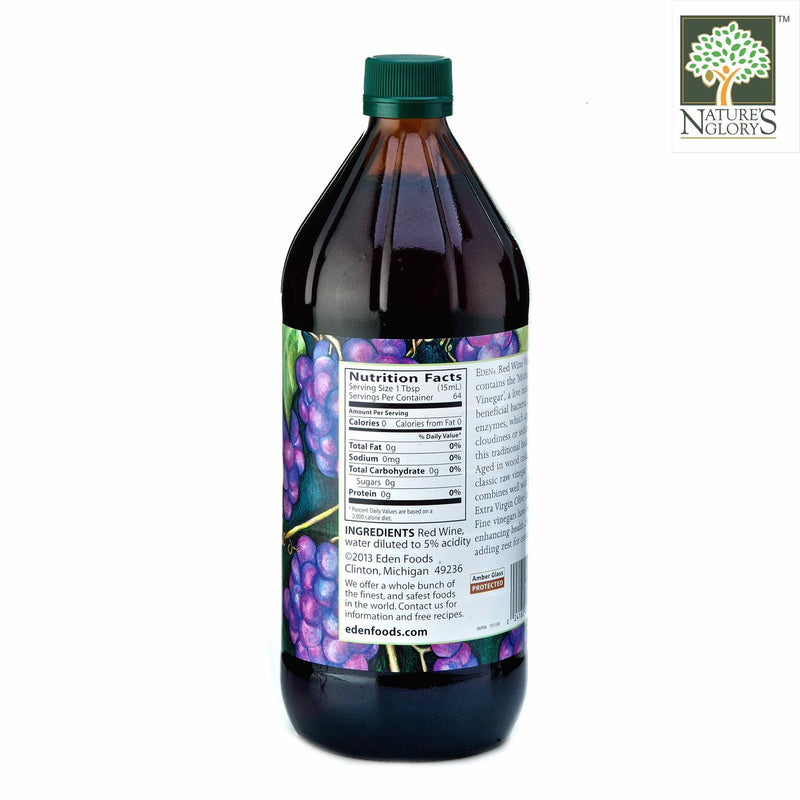 Red Wine Vinegar, Eden Organic 946ml - View 1