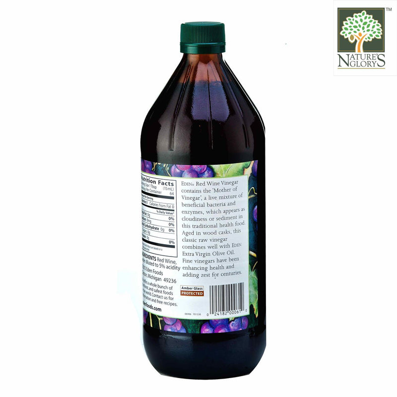 Red Wine Vinegar, Eden Organic 946ml- View 2