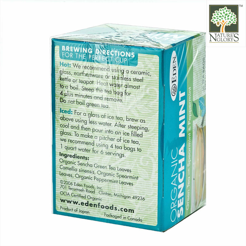 Sencha Mint (Green Tea with Mint) Eden Organic 16 tea bags - View 1