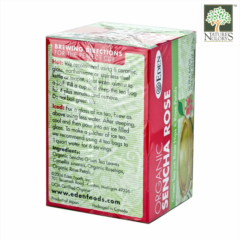Sencha Rose Green Tea Eden Organic 16 tea bags - View 1