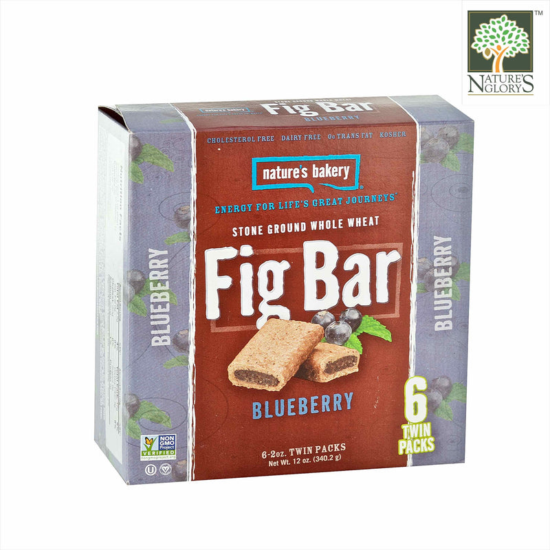 Fig Bar Stone Ground Whole Wheat (Blueberry) Nature's Bakery 56.7g/56.7g x 6