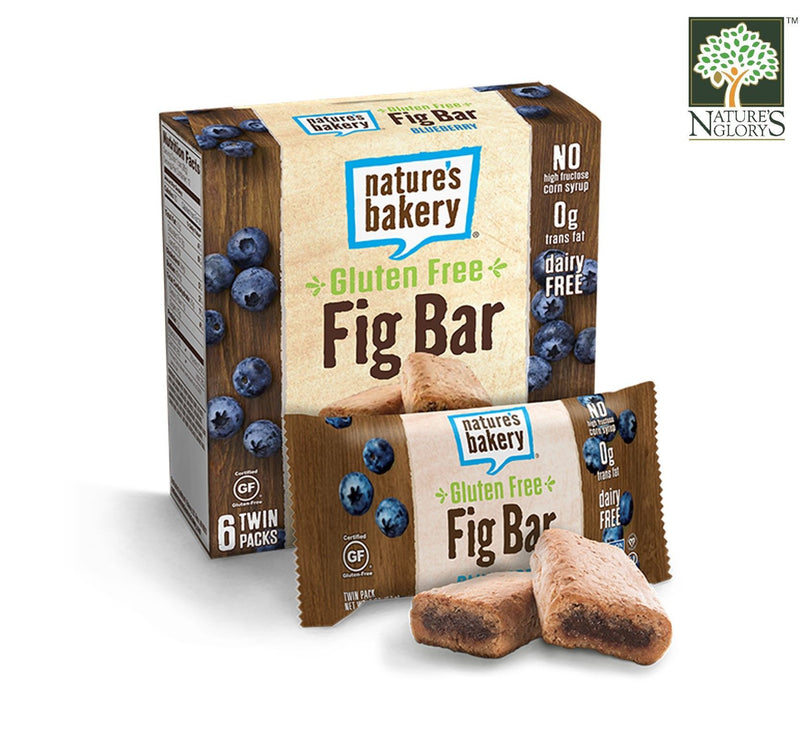 Fig Bar Stone Ground Whole Wheat Gluten Free (Blueberry) Nature's Bakery 56.7g x 6