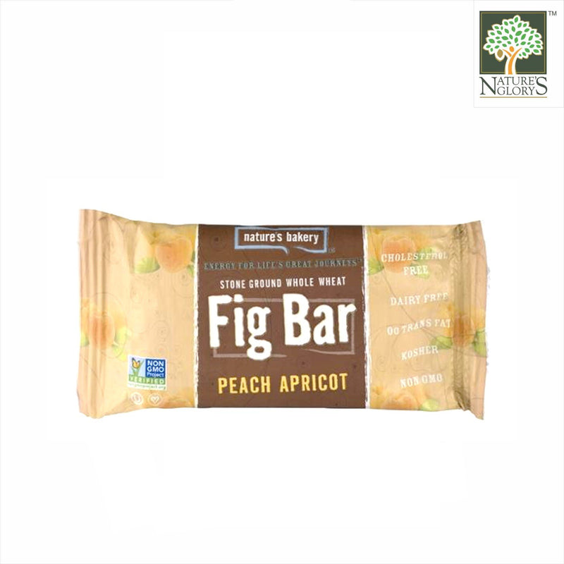 Fig Bar Stone Ground Whole Wheat (Peach Apricot) Nature's Bakery 56.7g/56.7g x 6
