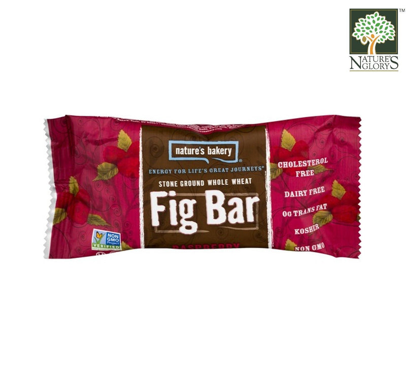 Fig Bar Stone Ground Whole Wheat (Raspberry) Nature's Bakery 56.7g/56.7g x 6
