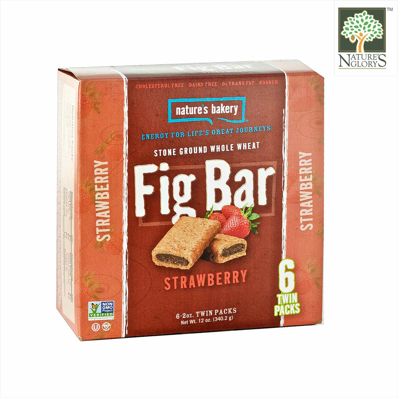 Fig Bar Stone Ground Whole Wheat (Strawberry) Nature's Bakery 56.7g/ 56.7g x 6