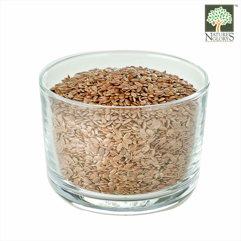 Flaxseed/Linseed Nature's Glory Organic (NA 8131P) In A  Bowl