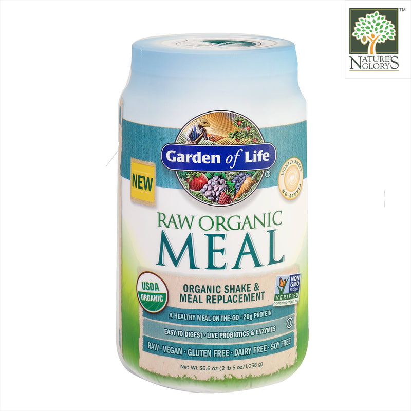 Raw Organic Meal Shake & Meal Replacement Lightly Sweet. Garden Of Life 1038g