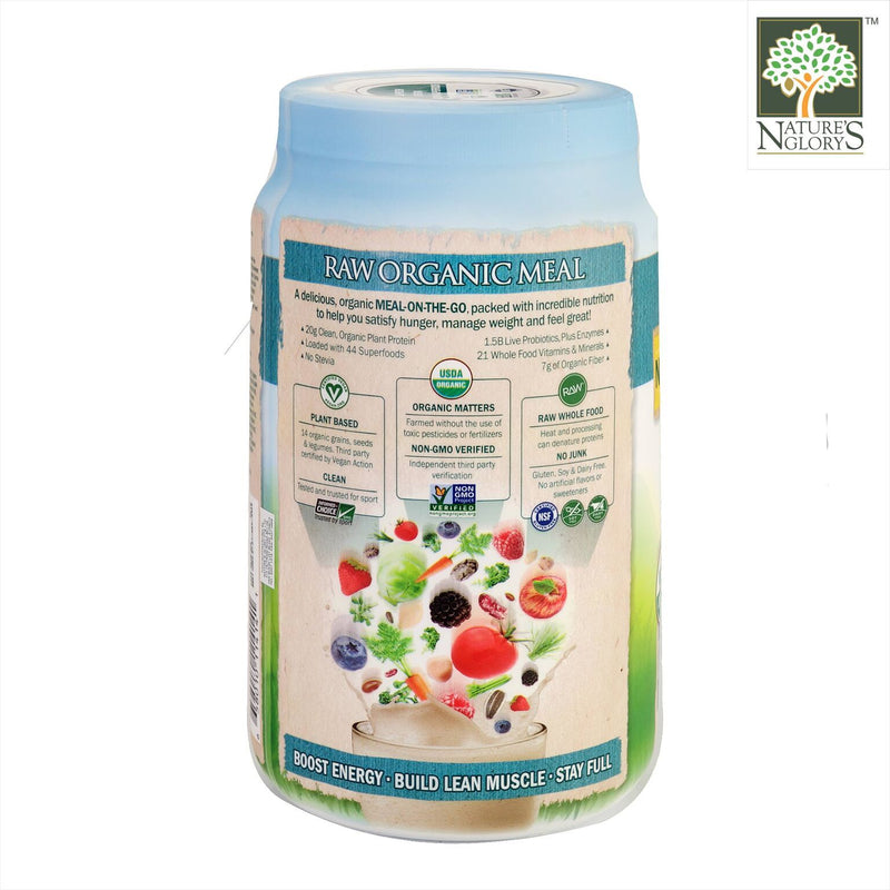 Raw Organic Meal Shake & Meal Replacement Lightly Sweet. Garden Of Life 1038g - Product Description View 1