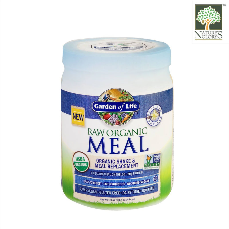 Raw Organic Meal Shake & Meal Replacement Vanilla Garden Of Life 484g
