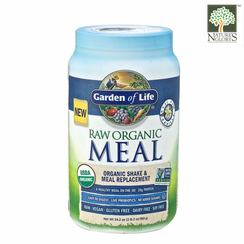 Raw Organic Meal Shake & Meal Replacement Vanilla Garden Of Life 969g