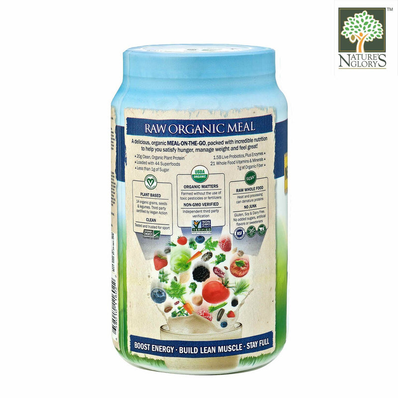 Raw Organic Meal Shake & Meal Replacement Vanilla Garden Of Life 969g - Product Description View 2