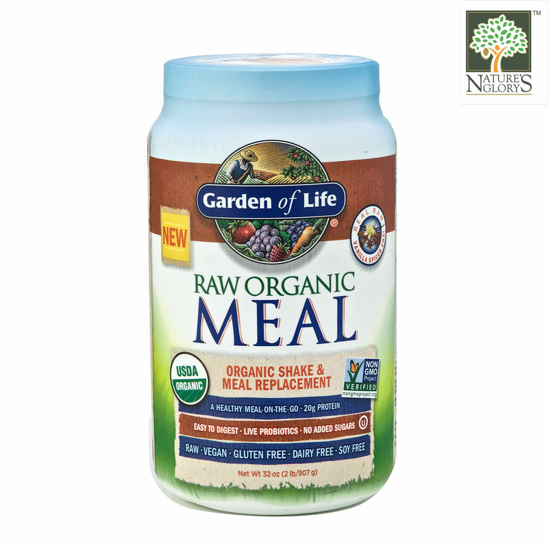 Raw Organic Meal Shake & Meal Replacement Vanilla Spiced Chai. Garden Of Life 907g
