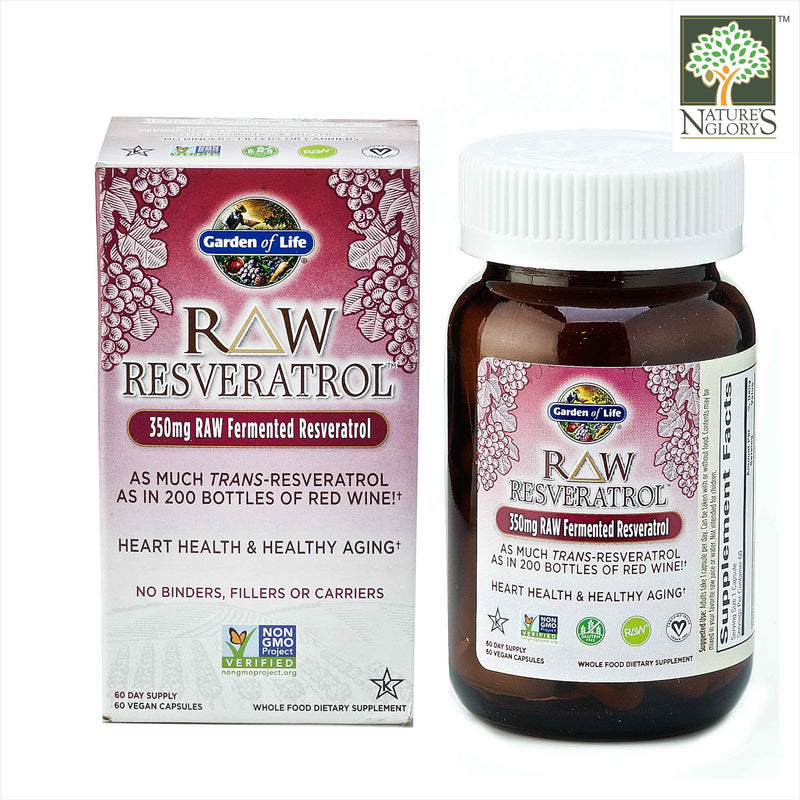 Garden of Life - Raw Resveratrol 60 vcaps with Box Cover