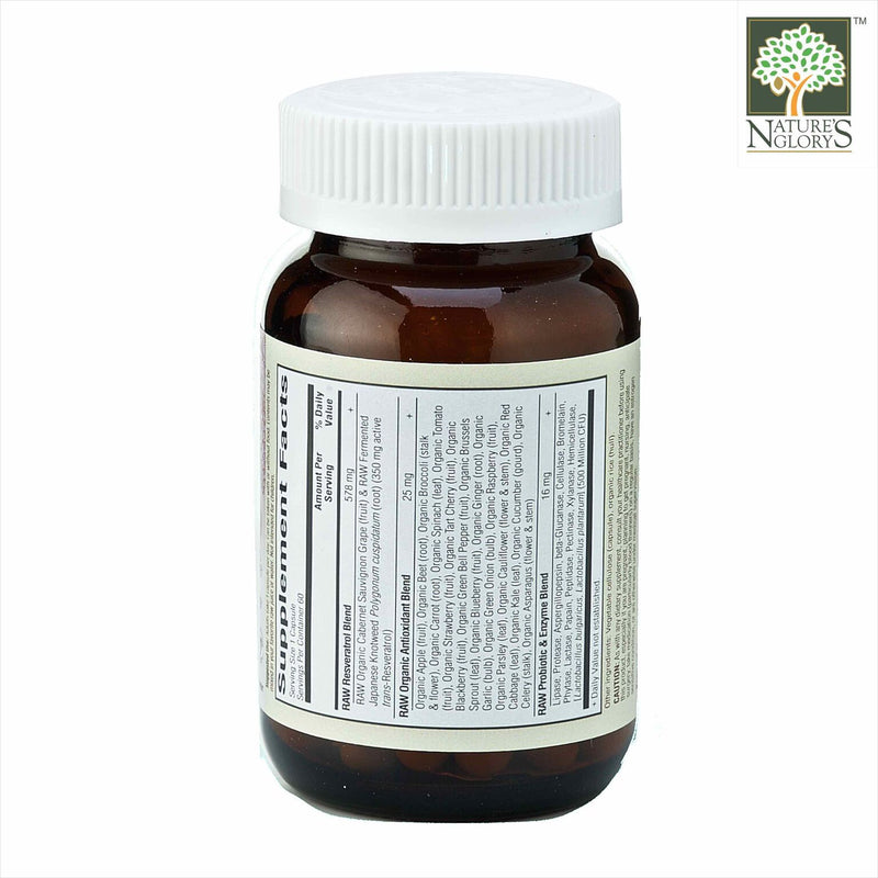 Garden of Life - Raw Resveratrol 60 vcaps - BackView