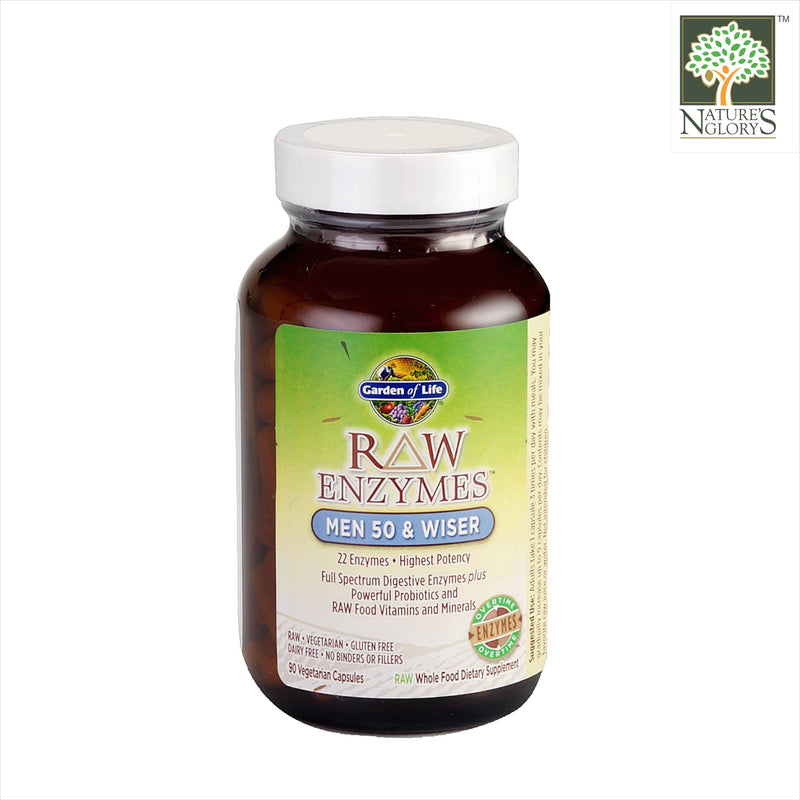 Garden of Life Raw Enzymes Men 50 & Wiser 90 vcaps Organic