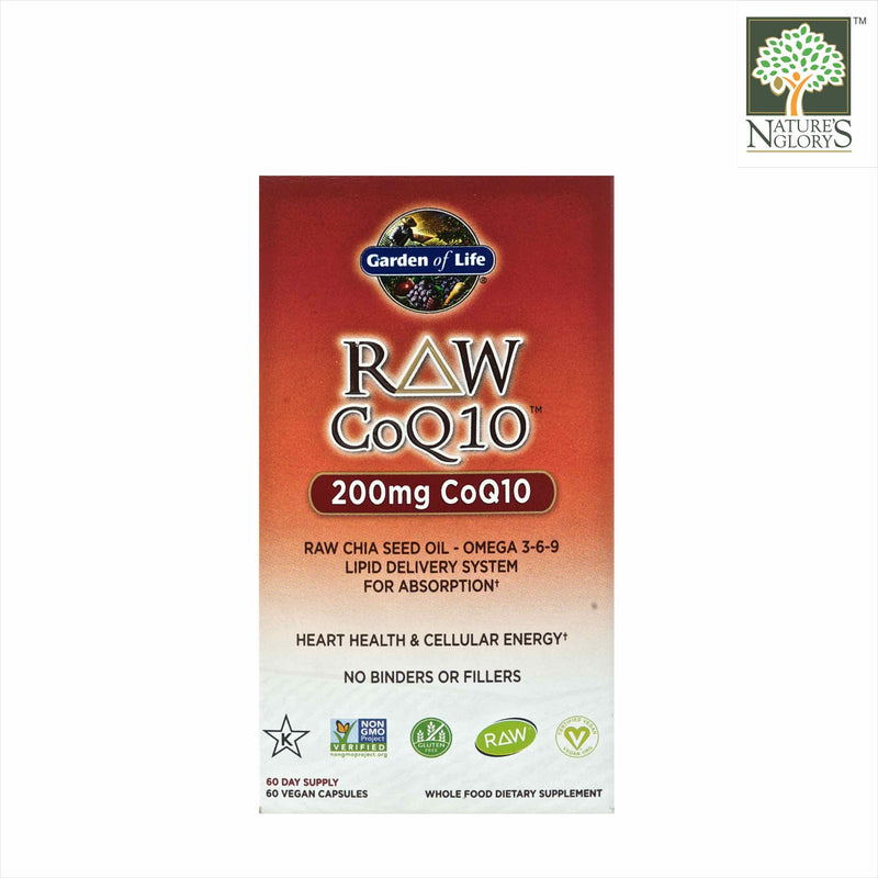 Garden of Life Vitamin Code Raw CoQ10 (200 mg) 60 Vegan Caps Box Cover