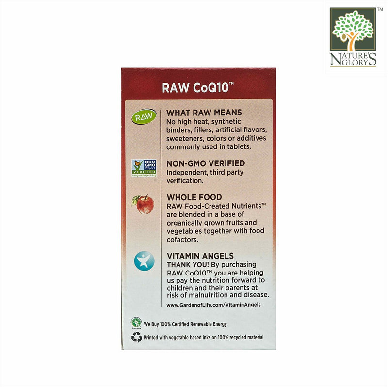 Garden of Life Vitamin Code Raw CoQ10 (200 mg) 60 Vegan Caps Box Cover- Product Description View 2
