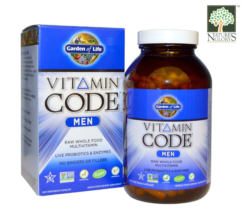 Garden of Life Vitamin Code for Men 240 vcaps