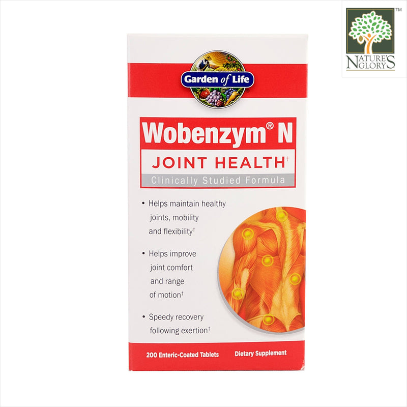 Garden of Life Wobenzym N - Joint Health 200 Enteric-Coated Tablets