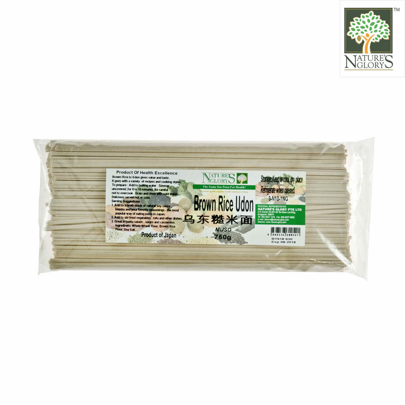 Genmai Udon-Brown Rice Noodle Nature's Glory 750g