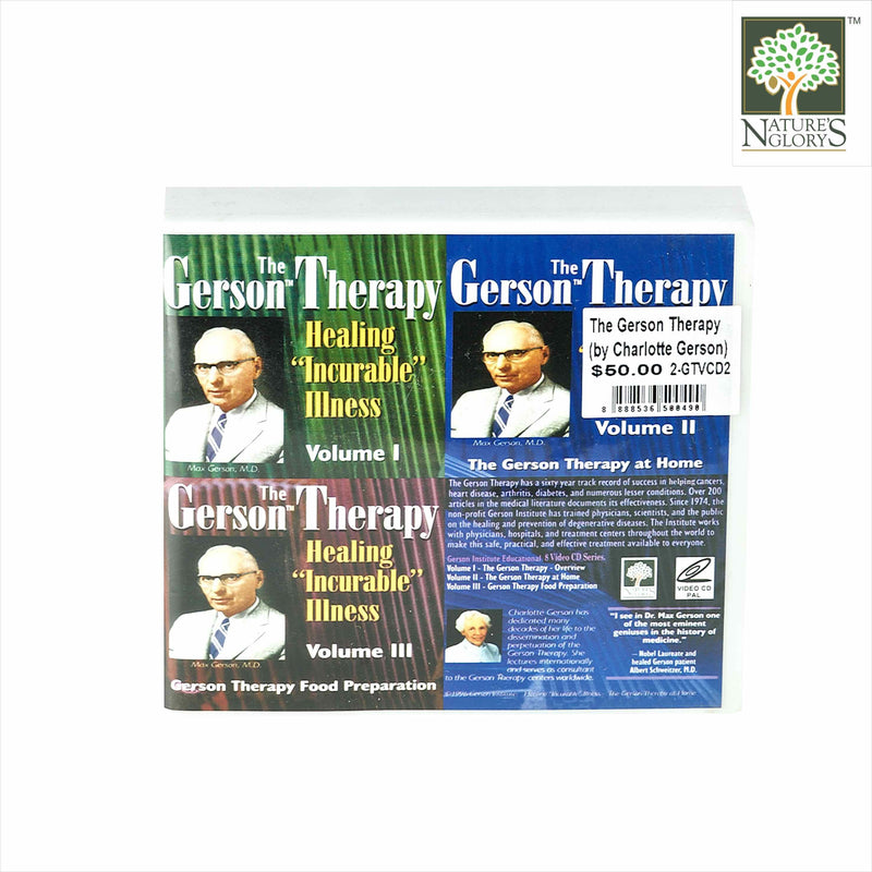 The Gerson Therapy (by Charlotte Gerson) - Healing Incurable Illness - 3 Volumes 8VCD