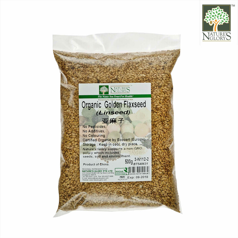 Golden Flaxseed/Linseed Nature's Glory 500g Organic
