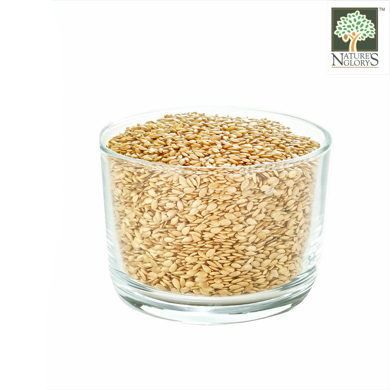 Golden Flaxseed/Linseed Nature's Glory Organic In A Bowl