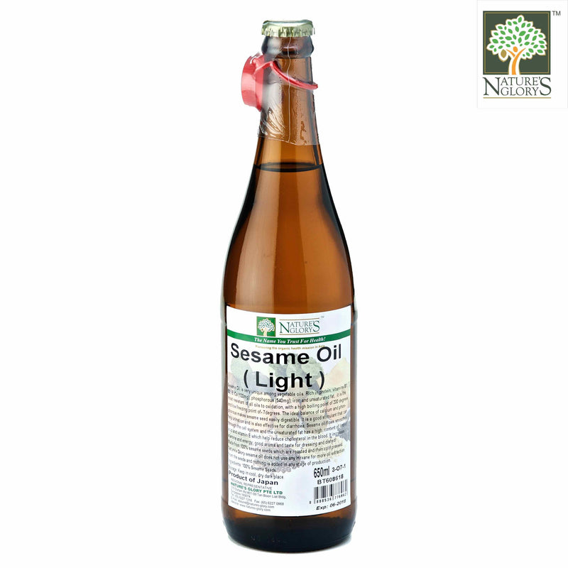 High Quality Sesame Oil(Light)  Nature's Glory 650ml