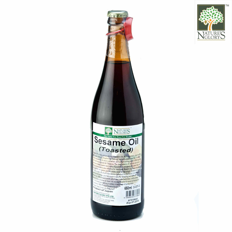 High Quality Toasted Sesame Oil Nature's Glory 650ml
