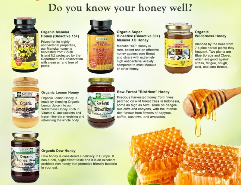 Organic New Zealand Manuka Honey Bioactive 15+ Nature's Glory (Best before: Approx. 3 years)