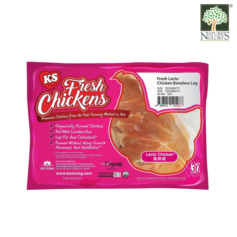 Fresh Lacto Chicken Boneless Leg, Kee Song 300g