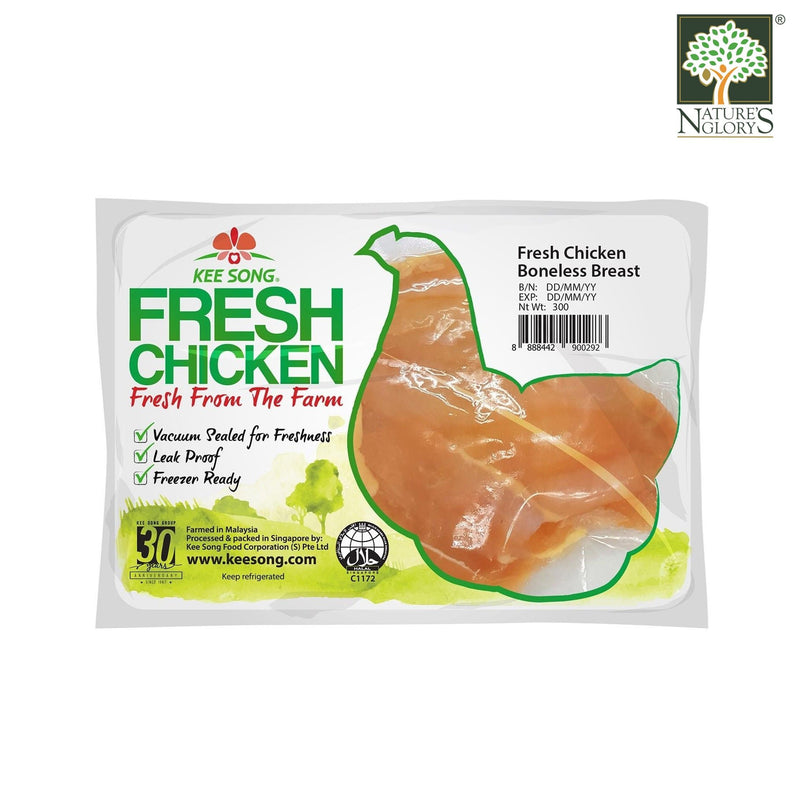 Fresh Organic Lacto Chicken Boneless Breast, Kee Song 300g