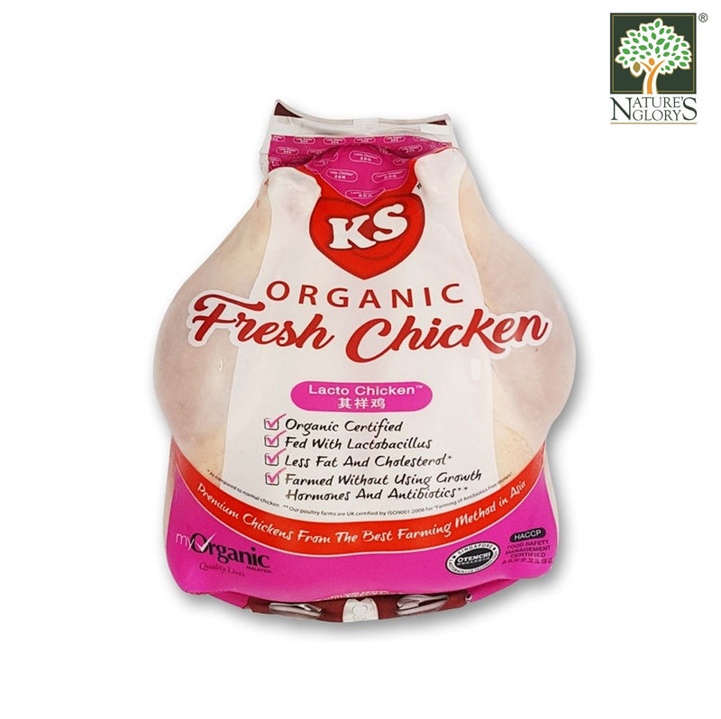 Fresh Organic Lacto Whole Chicken, Kee Song 1.2kg