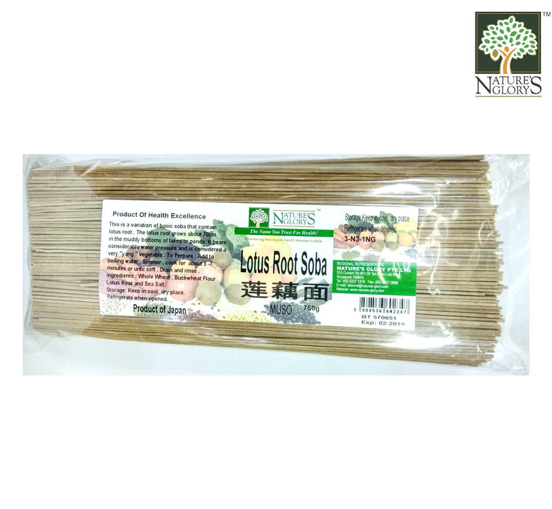 Lotus Root Soba (Buckwheat) Nature's Glory 750g