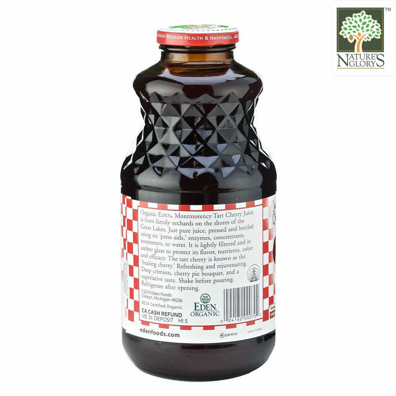 Montmorency Cherry Juice Eden 946ml Organic (Organic TART Cherry Juice) - View  2