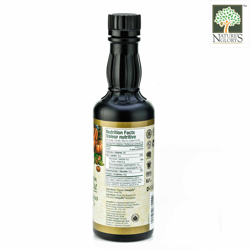 Pumpkin Oil Omega Nutrition 355ml Organic - View 1