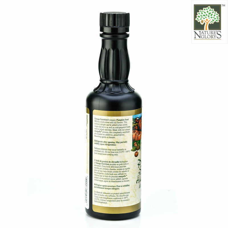 Pumpkin Oil Omega Nutrition 355ml Organic - View 2