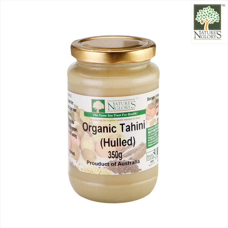 Tahini Hulled (White) Ground Sesame Seeds Nature's Glory 350g (NA 8131P)